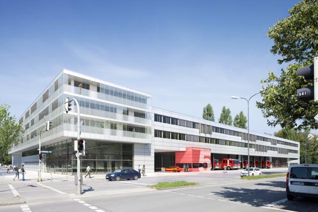 Feuerwache 5 Und Katastrophenschutzzentrum Der Lh M 252 Nchen Ackermann Architekten Bda